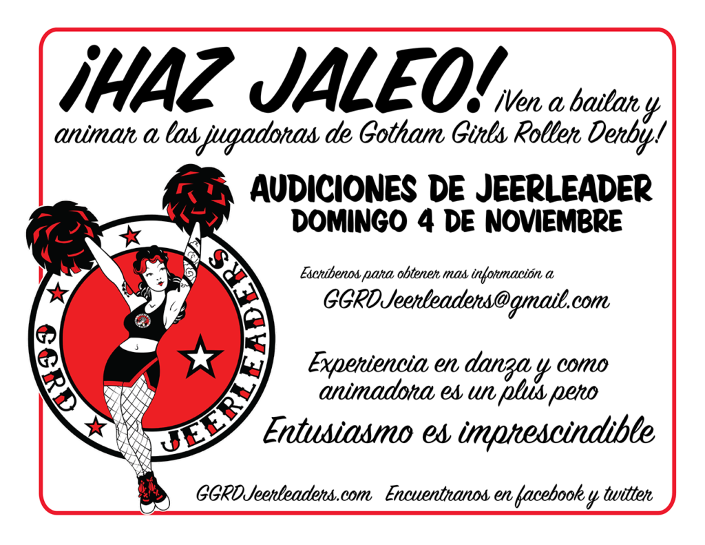 2019 jeerleader flyer in Spanish